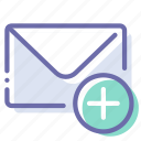 add, email, mail, message icon