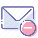 delete, email, mail, message icon