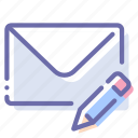 edit, mail, message, write icon