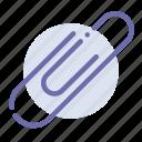 attach, attachment, clip, paper icon