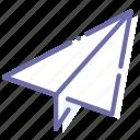paper, paperplane, plane, telegram icon