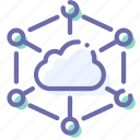cloud, internet, network, servers icon