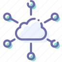 cloud, hosting, network, servers icon