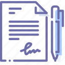 document, file, pen, sign icon