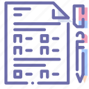 document, exam, file, test icon
