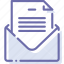 envelope, file, mail, message icon
