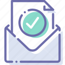 check, envelope, mail, message icon