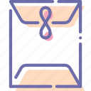 envelope, mail, post, sealed icon