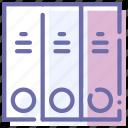 archive, binder, folders, office icon