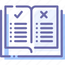 book, education, rules, study icon