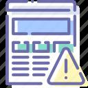 alert, browser, internet, web icon