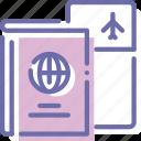 boarding, pass, passport, ticket icon