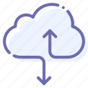 cloud, data, hosting, internet icon