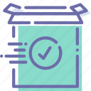 check, install, product, ready icon