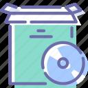 box, cd, disc, product, setup icon
