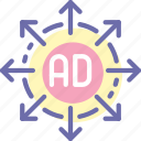 advertisement, advertising, marketing, strategy icon