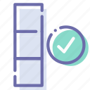 check, column, data, database icon