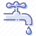 faucet, pipe, valve, water