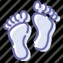 bare, feet, foodprint, trace icon