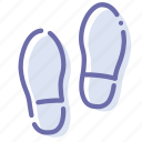 boots, foodprint, shoes, trace icon