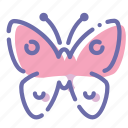 butterfly, effect, insect icon