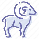 goat, mutton, ram, sheep icon