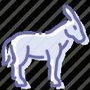 burro, donkey, goat, neddy