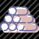 log, resource, sawmill, wood icon