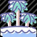 beach, sea, travel, vacation icon