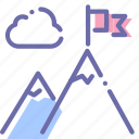 business, goal, mountains, startup