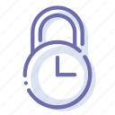 lock, padlock, security, time icon