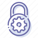 lock, padlock, security, settings icon