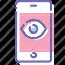 trojan, eye, mobile, spy icon