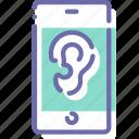 ear, microphone, mobile, spy
