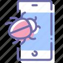 smartphone, bug, mobile, spy icon