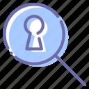 secret, search, keyhole