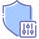 cyber, protection, security, settings icon