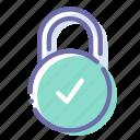 check, lock, padlock, protection