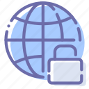 internet, locked, network, protection icon