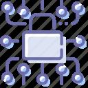 data, lock, locked, protection icon