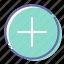 add, circle, open, plus icon