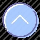 arrow, circle, top, up icon