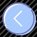arrow, circle, left, prev icon