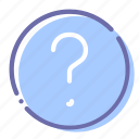 circle, help, question, support icon