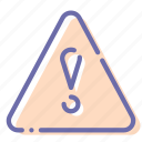 attention, exclamation, triangle, warning icon