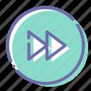 circle, foward, next, rewind icon