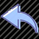 arrow, back, sign, undo icon
