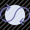 arrow, loop, mode, sign icon
