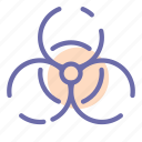 bacterial, biohazard, chemical, danger icon