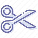 crop, cut, scissors, tool icon